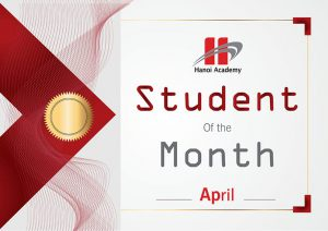 Student of the month – April 2017 – Primary school