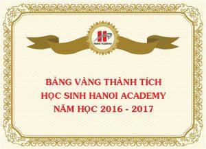 Bảng vàng thành tích học sinh Hanoi Academy năm học 2016 – 2017