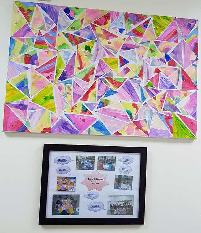 Bé sáng tạo nghệ thuật từ các hình vẽ màu sắc