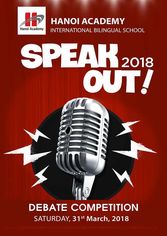 Cuộc thi hùng biện tiếng Anh Hanoi Academy's Speak Out! 2018