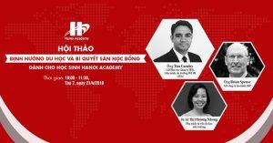 Hội thảo định hướng du học và bí quyết săn học bổng dành cho học sinh Hanoi Academy