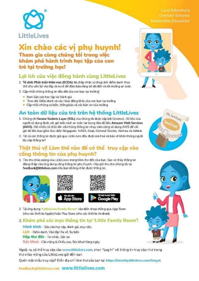 LittleLives – Phần mềm quản lý trường mầm non