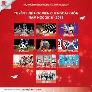 CLB ngoại khóa năm học 2018 – 2019