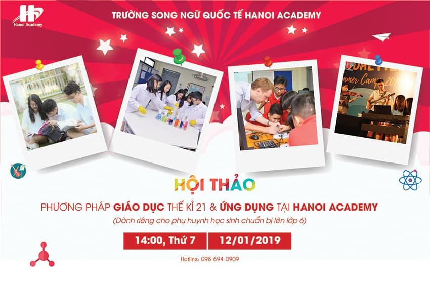 Hội thảo: Phương pháp giáo dục thế kỉ 21 và ứng dụng tại Hanoi Academy Trang chủ