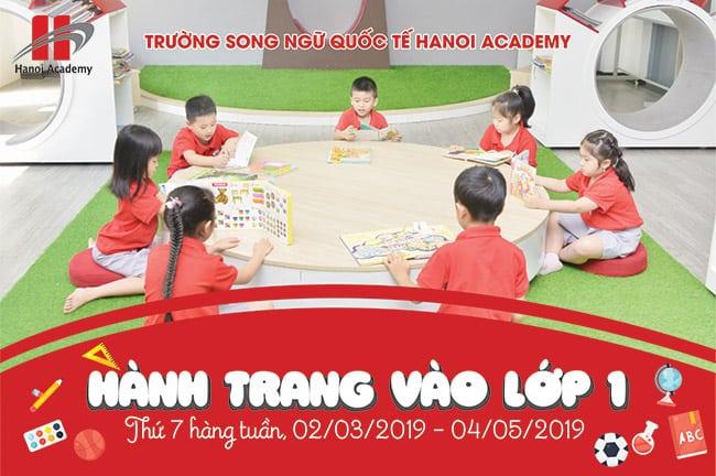 """""""Hành trang vào lớp 1""""- Hanoi Academy """"Hành trang vào lớp 1""""- Khóa học chuẩn bị cho năm học mới 2019 – 2020"""