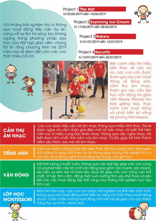 """Khóa học hè """"Fantastic summer 2019"""" dành cho trẻ từ 2-5 tuổi"""
