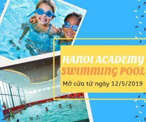 Khai trương bể bơi Hanoi Academy mùa hè 2019