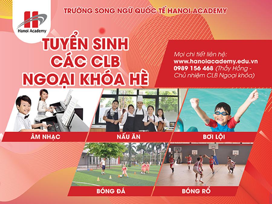 Trường Song ngữ Quốc tế Hanoi Academy tuyển sinh các CLB ngoại khóa hè 2019 CLB ngoại khóa hè 2019