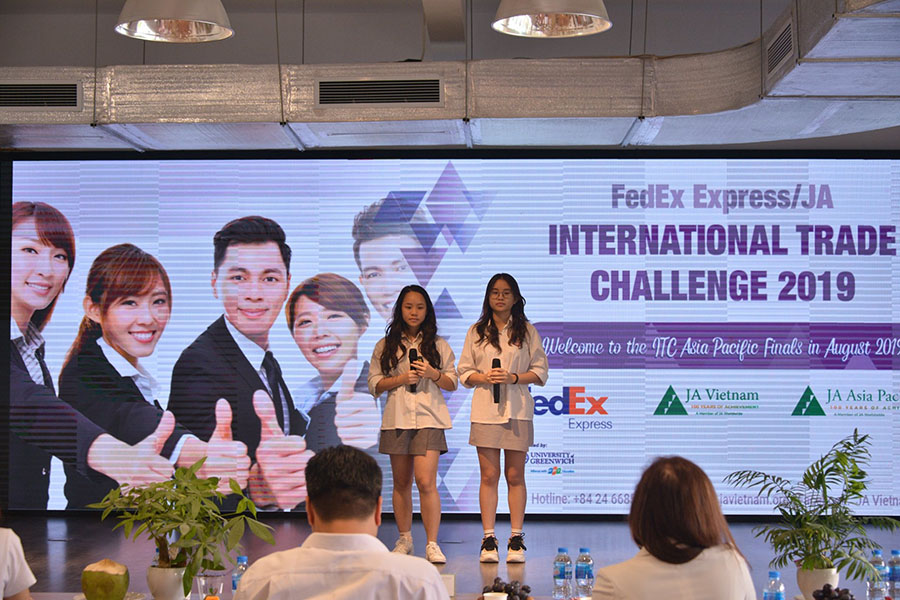 Học sinh Hanoi Academy được lựa chọn vào chung kết cuộc thi JA INTERNATIONAL TRADE CHALLENGE 2019 tại Malaysia