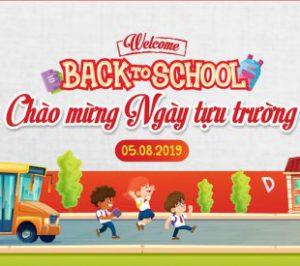 Welcome back to school: Chào mừng ngày tựu trường năm học 2019 – 2020