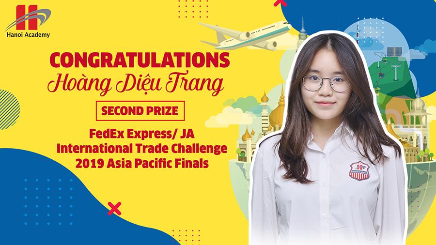Chúc mừng học sinh Hoàng Diệu Trang đạt giải Nhì chung kết cuộc thi FEDEX EXPRESS/ JA ITC ASIA PACIFIC FINALS Chúc mừng học sinh Hoàng Diệu Trang đạt giải Nhì chung kết cuộc thi FEDEX EXPRESS/ JA ITC ASIA PACIFIC FINALS