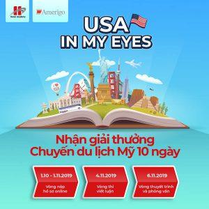 """Tham gia cuộc thi """"USA in my eyes"""", nhận ngay một chuyến du lịch Mỹ 10 ngày"""