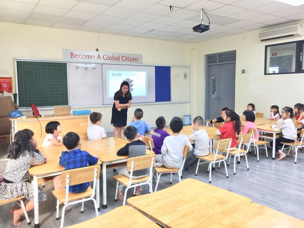 """Lớp học """"Tiền tiểu học"""" của các bé khối mẫu giáo lớn trường mầm non Hanoi Academy"""
