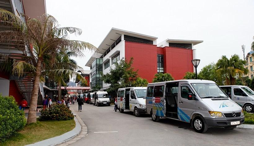 Hệ thống xe bus trường Hanoi Academy Xe bus