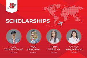 Học sinh lớp 12LION nhận được học bổng từ các trường đại học danh giá