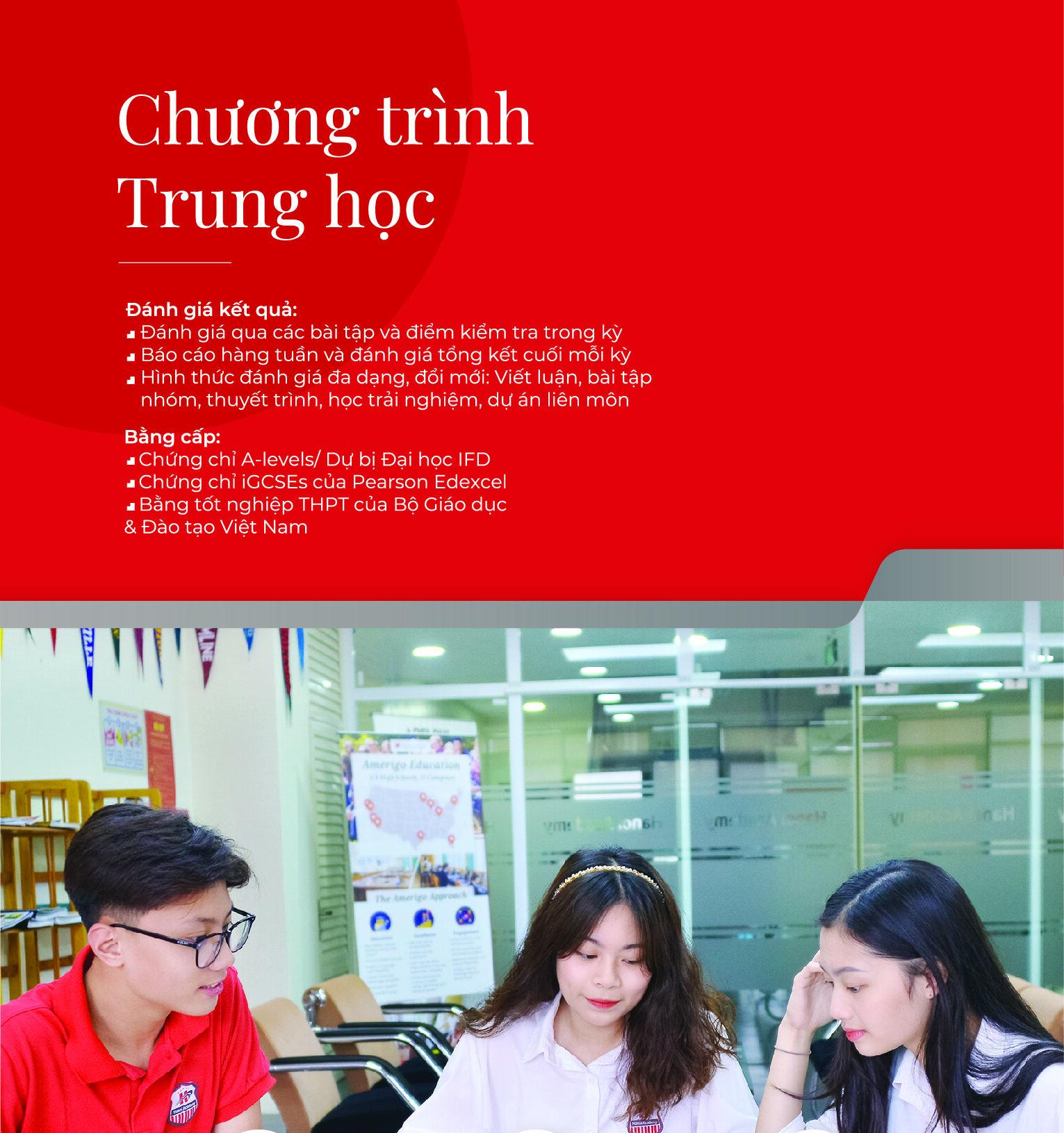 Chương trình trung học cơ sở Hanoi Academy Trung học cơ sở