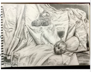 A&D lesson with Ms Michelle (Still-life painting and drawing)
