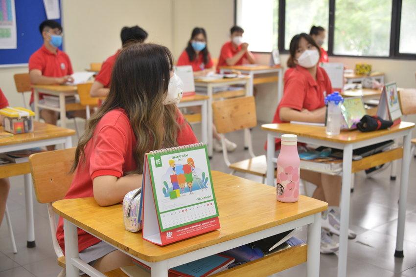 Ngày học đầu tiên của Acers khối Trung học trường Hanoi Academy sau thời gian nghỉ do Covid-19