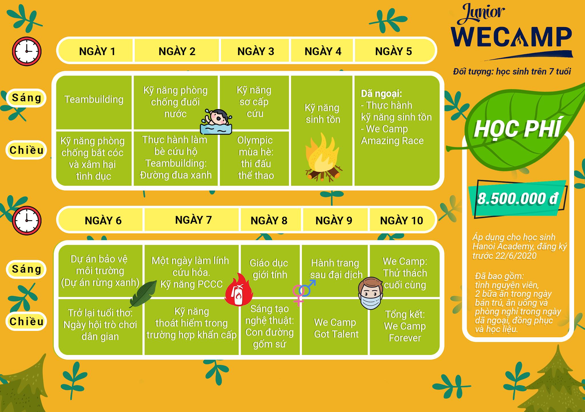 """Chương trình trại hè """"WE CAMP"""" Hanoi Academy Thư ngỏ về chương trình trại hè """"WE CAMP"""" Hanoi Academy"""