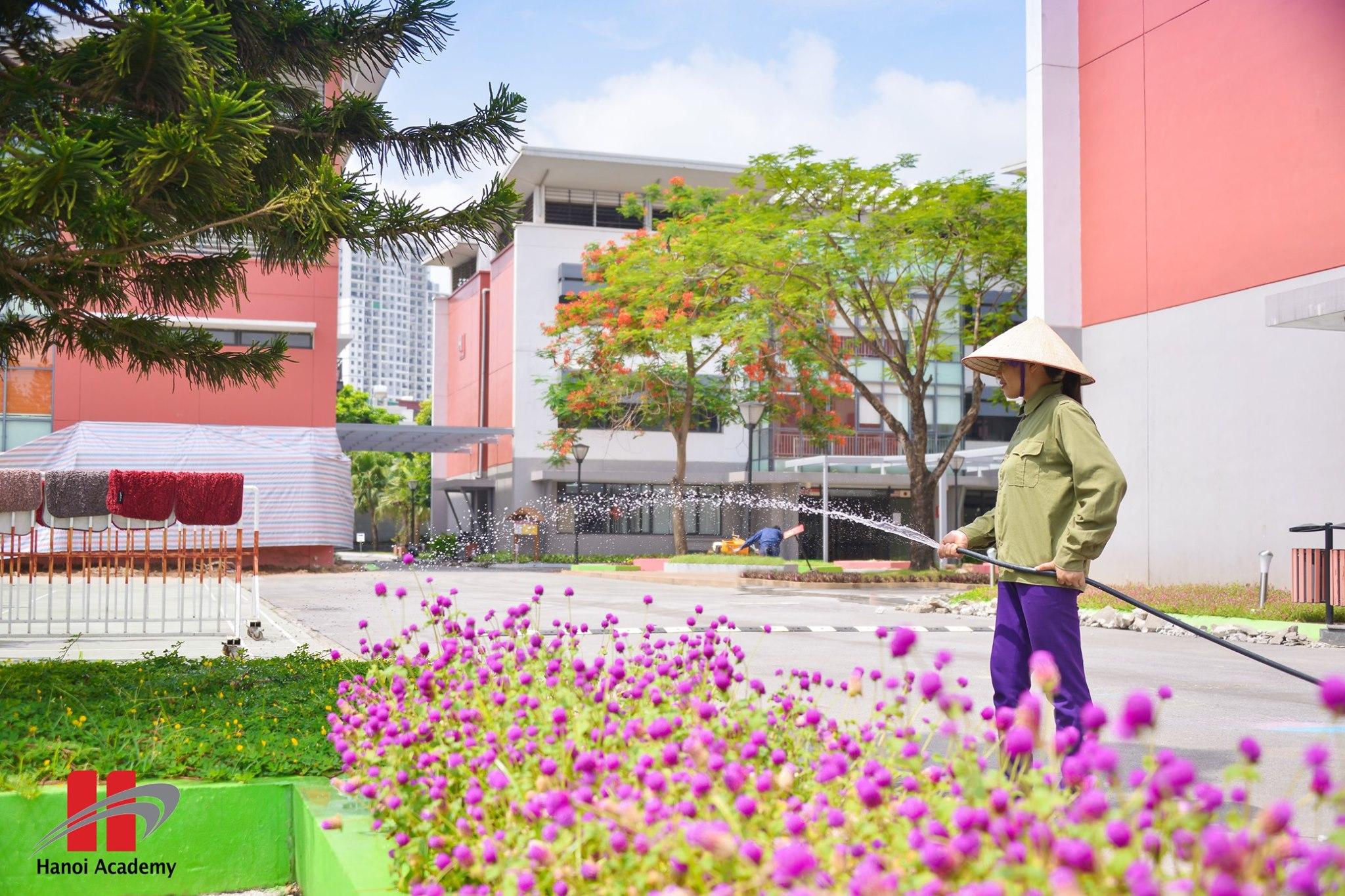 Mãn nhãn với không gian xanh của trường song ngữ Hanoi Academy