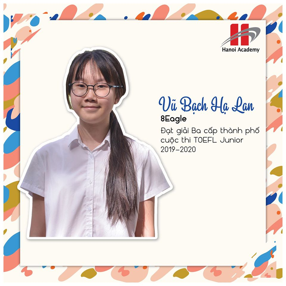 học sinh trường Hanoi Academy Hanoi Academy lọt top 5 trường đạt thành tích xuất sắc trong cuộc thi TOEFL JUNIOR CHALLENGE khu vực Hà Nội