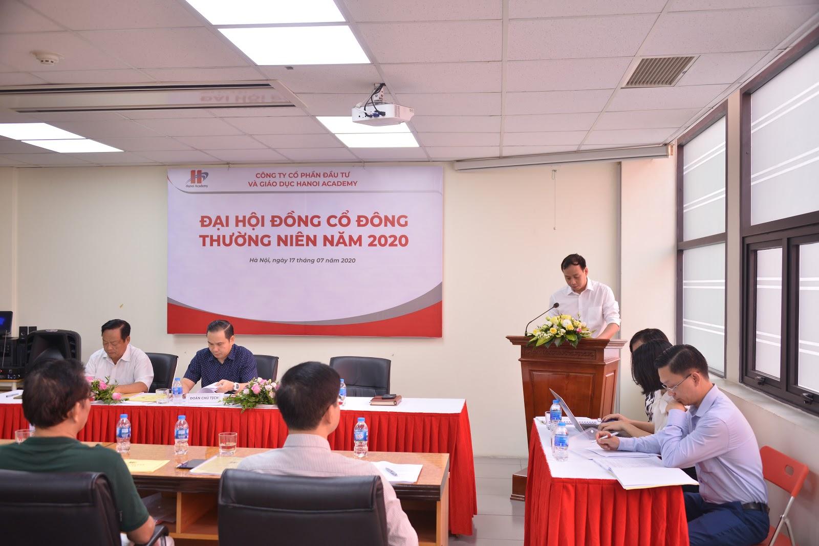 Hanoi Academy tổ chức Đại hội đồng cổ đông thường niên năm 2020 Hanoi Academy tổ chức thành công Đại hội đồng cổ đông thường niên năm 2020