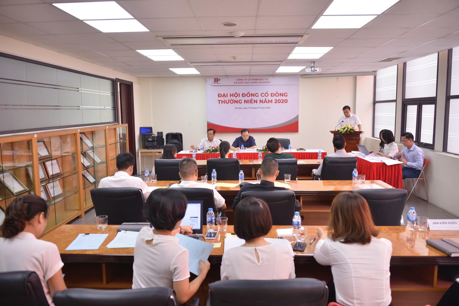 Hanoi Academy tổ chức thành công Đại hội đồng cổ đông thường niên năm 2020
