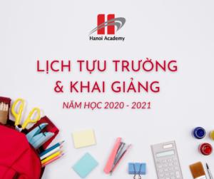 Thông báo về Lịch Tựu trường và Khai giảng năm học mới 2020 – 2021