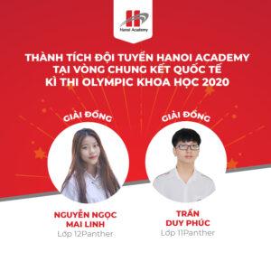 Học sinh Hanoi Academy đạt giải Đồng tại vòng chung kết quốc tế cuộc thi Olympic khoa học HKISO 2020