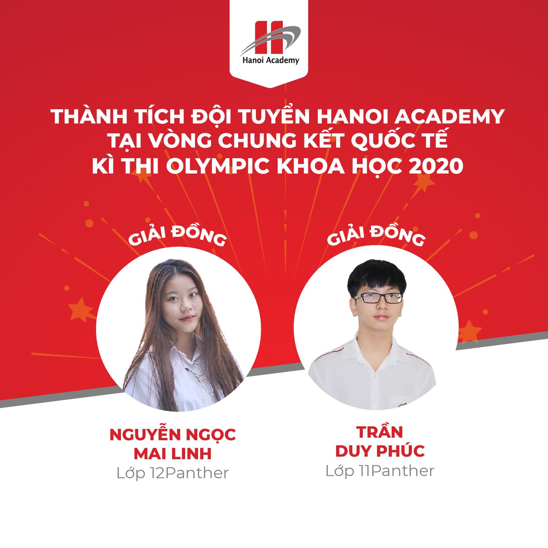 Học sinh Hanoi Academy đạt giải Đồng tại vòng chung kết quốc tế cuộc thi Olympic khoa học HKISO 2020 Trang chủ