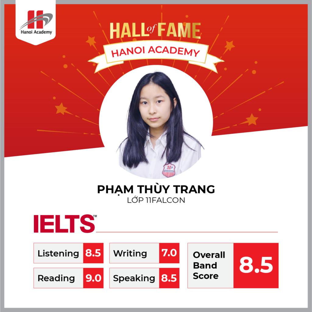 Nữ sinh lớp 11 Hanoi Academy đạt 8.5 IELTS trong lần thi đầu tiên