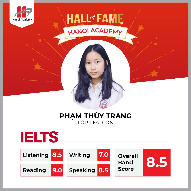Nữ sinh lớp 11 Hanoi Academy đạt 8.5 IELTS trong lần thi đầu tiên Trang chủ