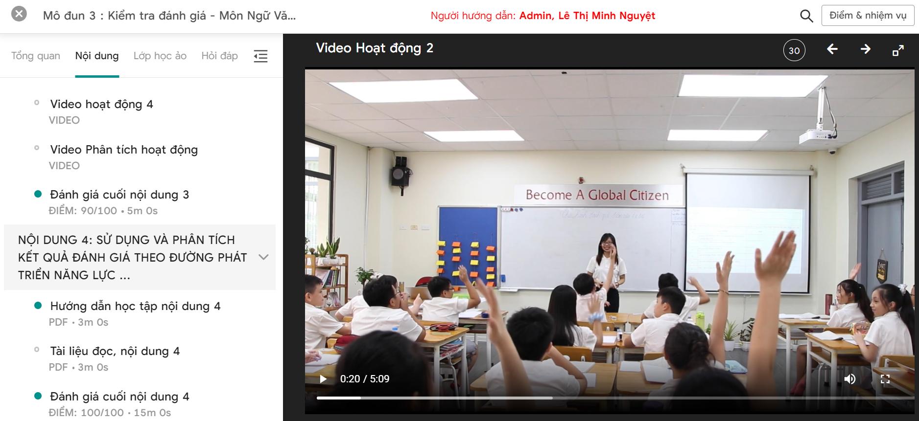 Thực hành đổi mới công cụ đánh giá môn Ngữ Văn tại Hanoi Academy Trang chủ