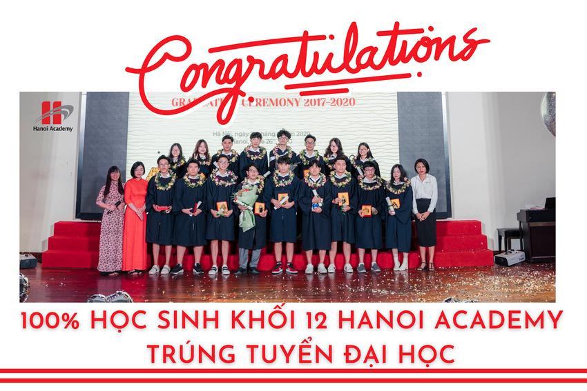 100% học sinh lớp 12 Hanoi Academy trúng tuyển các trường Đại học trong nước và quốc tế Trang chủ