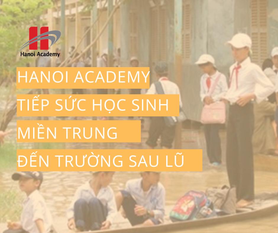 Hanoi Academy tiếp sức học sinh đến trường sau lũ
