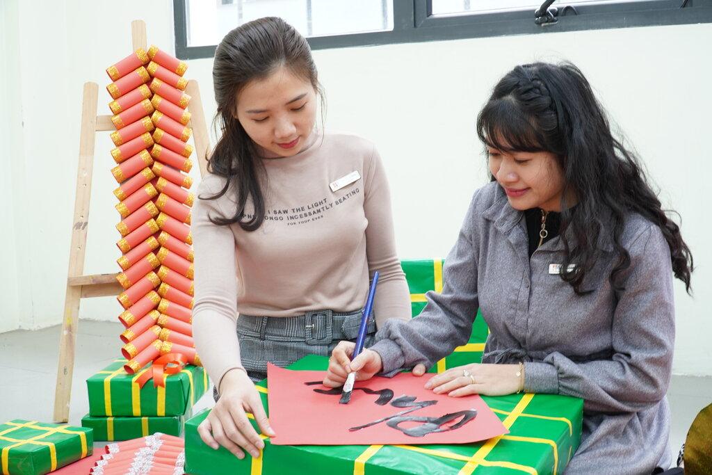 Công tác chuẩn bị cho sự kiện Tết Tân Sửu tại trường Mầm Non Hanoi Academy Trang chủ